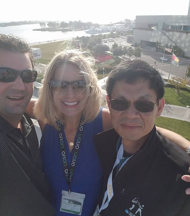 On April 27, 2016 International LED Lights Show in San Diego - With Brett, Kelly of Green lighting W