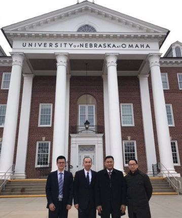 Delegates from Hanshan Normal University, Chaozhou, China