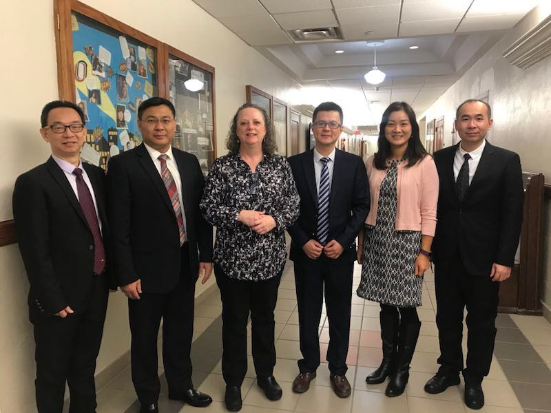 Delegates from Hanshan Normal University, Chaozhou, China